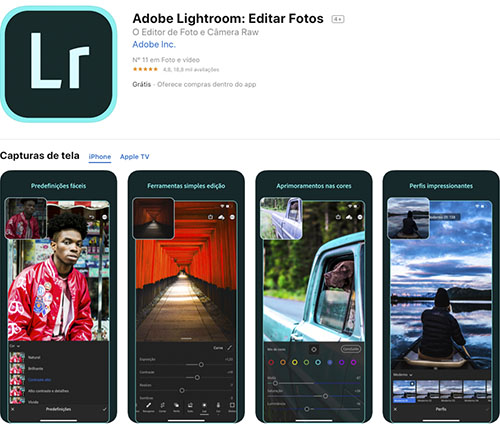 app para editar fotos lightroom